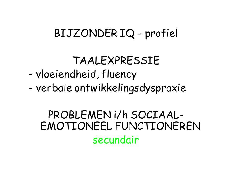 PROBLEMEN i/h SOCIAAL-EMOTIONEEL FUNCTIONEREN