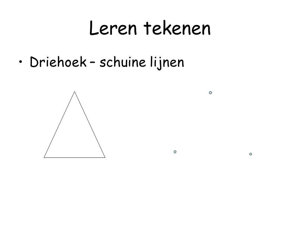 Leren tekenen Driehoek – schuine lijnen