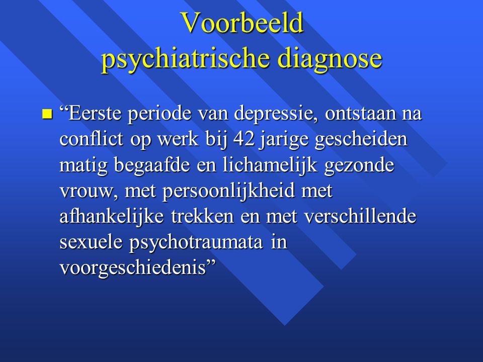 Voorbeeld psychiatrische diagnose