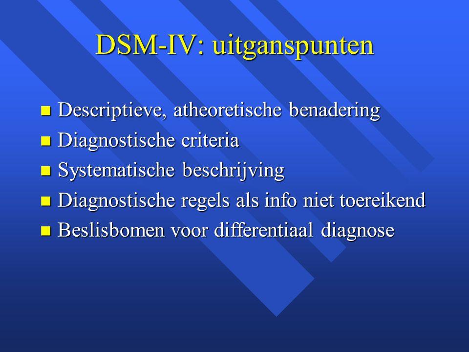 DSM-IV: uitganspunten
