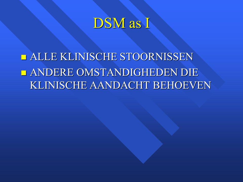 DSM as I ALLE KLINISCHE STOORNISSEN