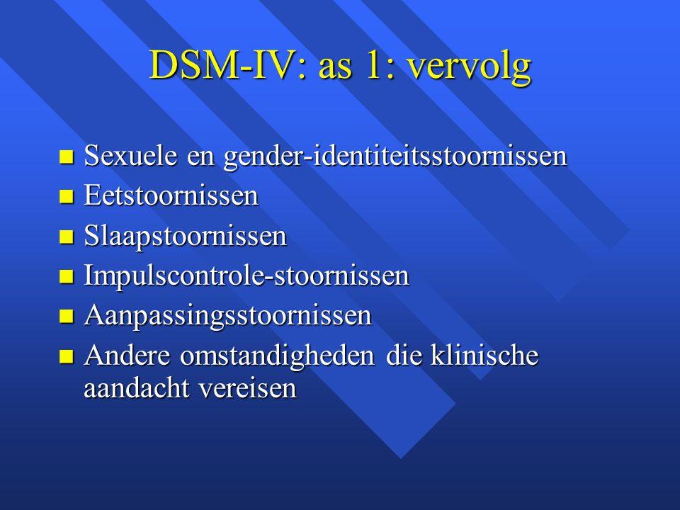 DSM-IV: as 1: vervolg Sexuele en gender-identiteitsstoornissen