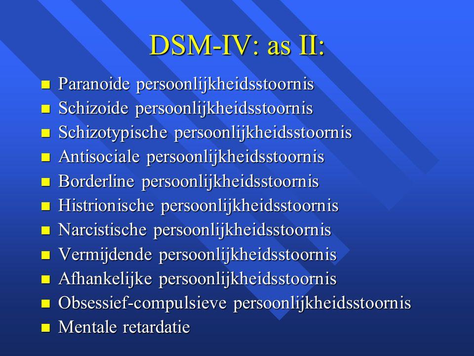 DSM-IV: as II: Paranoide persoonlijkheidsstoornis