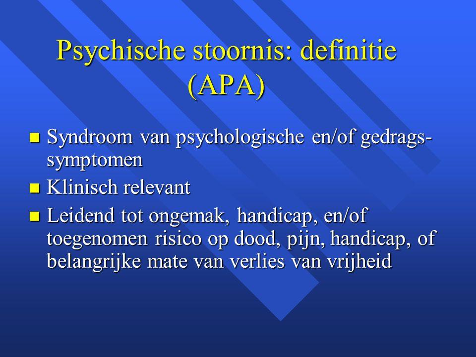 Psychische stoornis: definitie (APA)