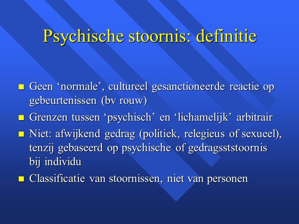 Psychische stoornis: definitie