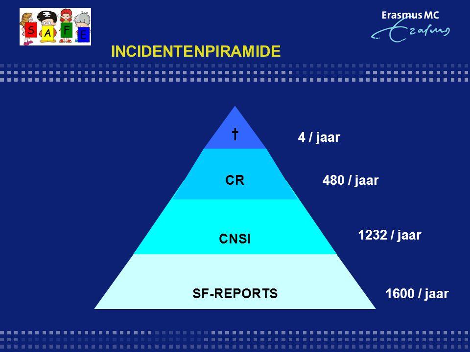 INCIDENTENPIRAMIDE † 4 / jaar CR 480 / jaar 1232 / jaar CNSI