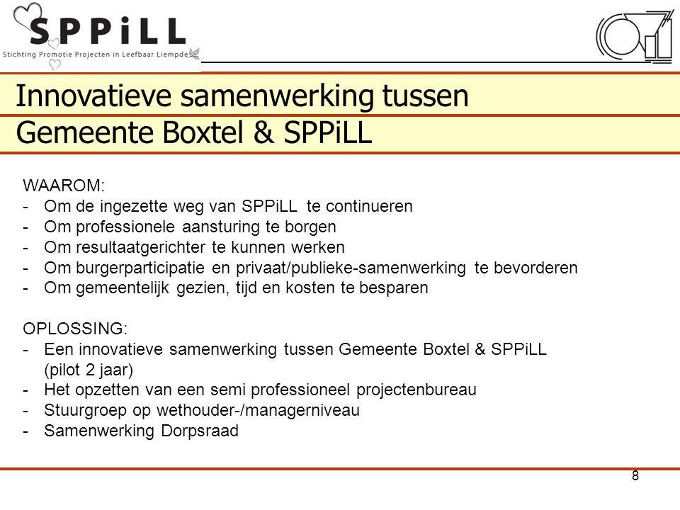 Innovatieve samenwerking tussen Gemeente Boxtel & SPPiLL