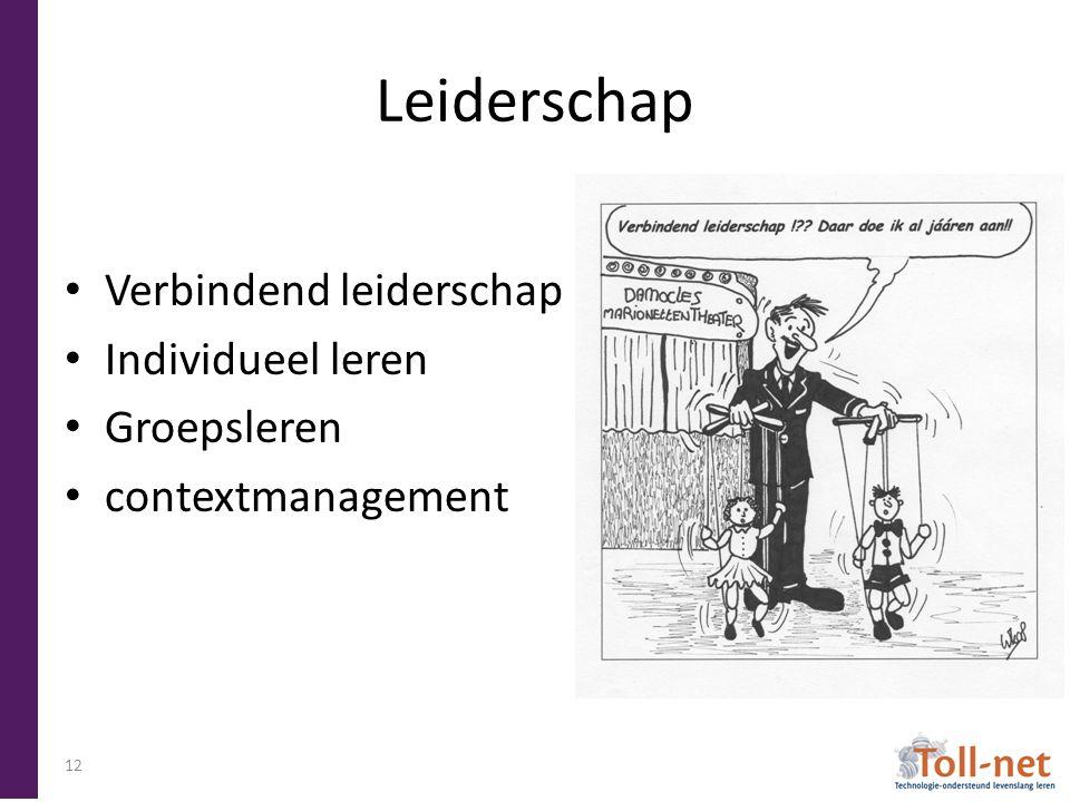 Leiderschap Verbindend leiderschap Individueel leren Groepsleren