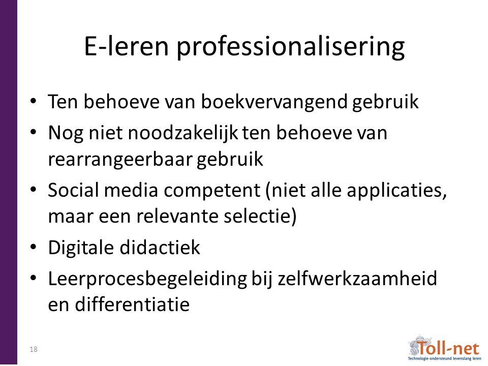 E-leren professionalisering