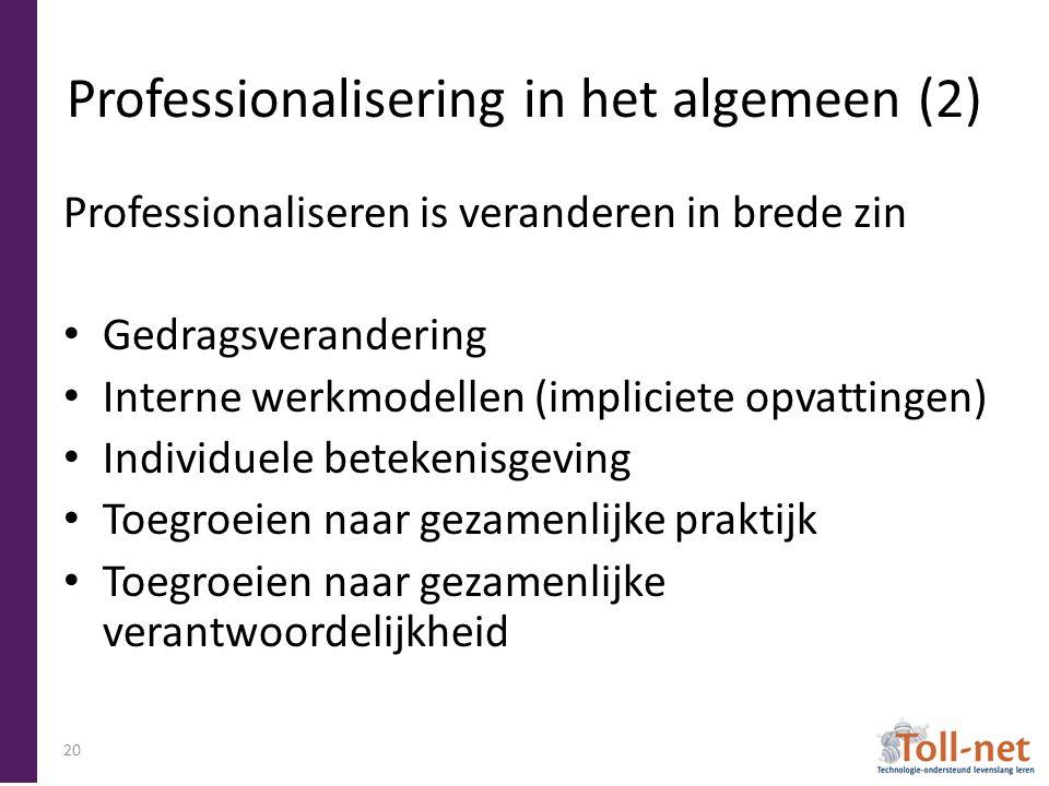 Professionalisering in het algemeen (2)