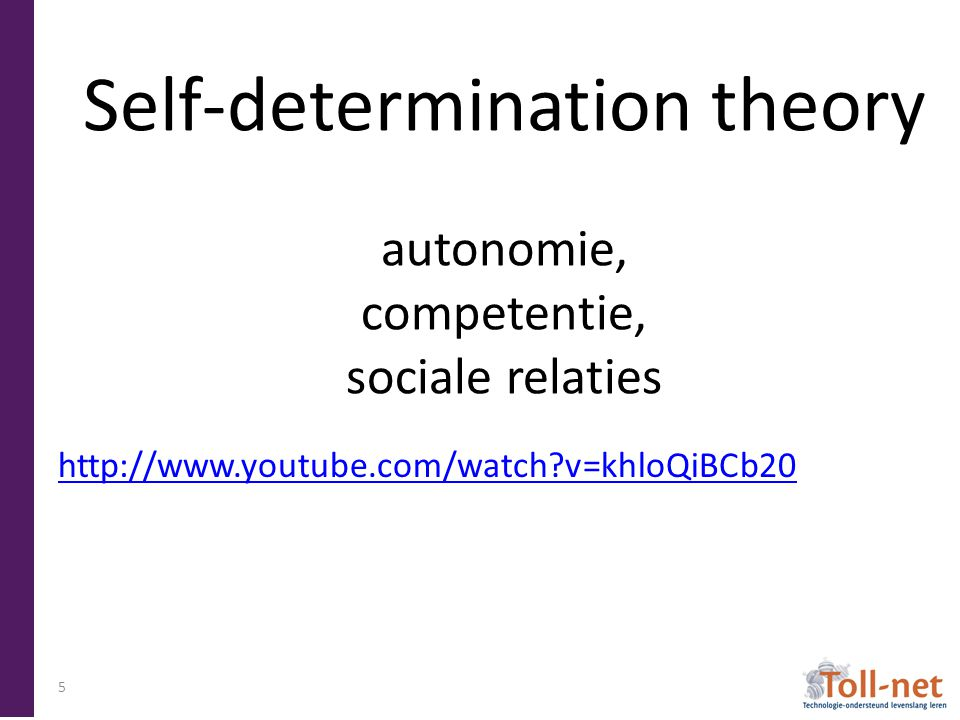 Self-determination theory autonomie, competentie, sociale relaties