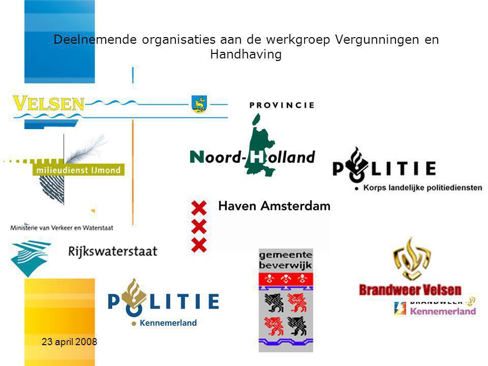 Deelnemende organisaties aan de werkgroep Vergunningen en Handhaving