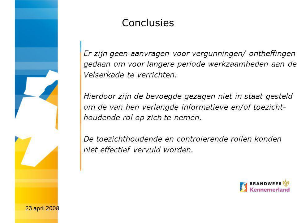Conclusies Er zijn geen aanvragen voor vergunningen/ ontheffingen