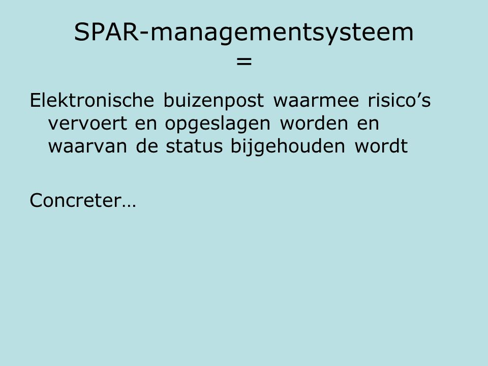 SPAR-managementsysteem =