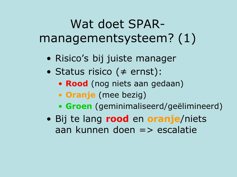 Wat doet SPAR-managementsysteem (1)