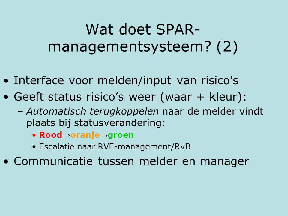 Wat doet SPAR-managementsysteem (2)