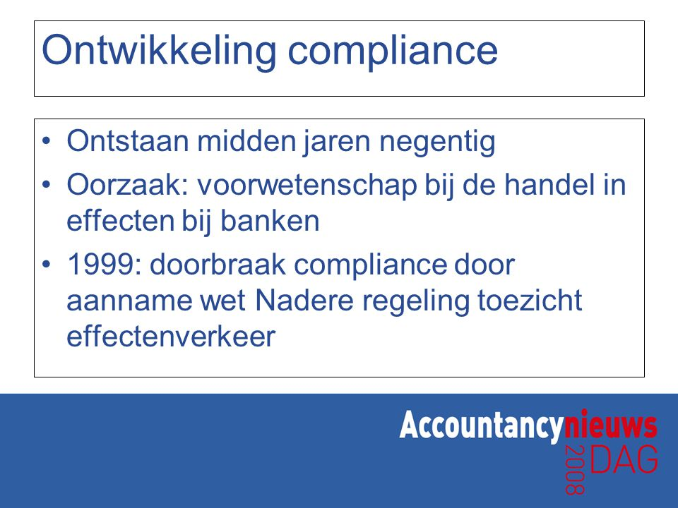 Ontwikkeling compliance