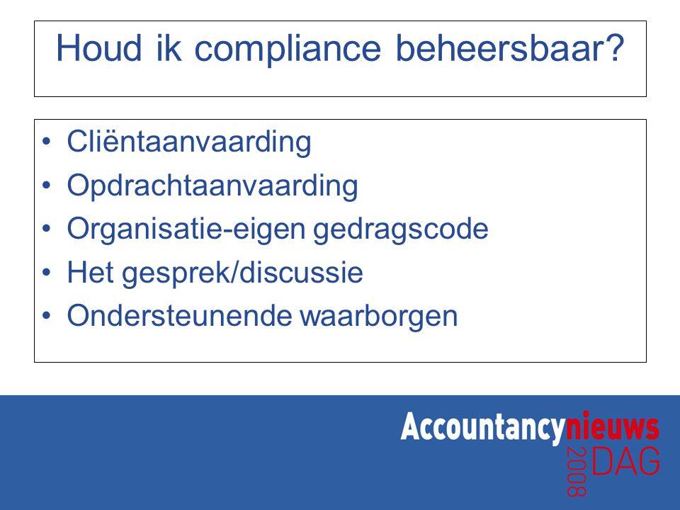 Houd ik compliance beheersbaar