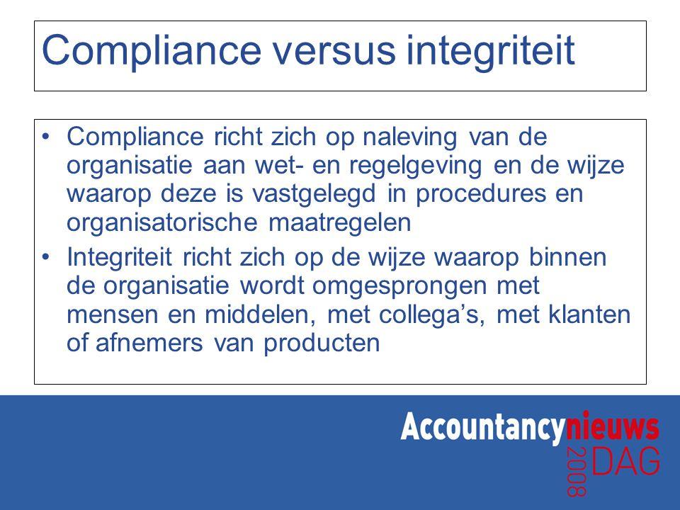 Compliance versus integriteit