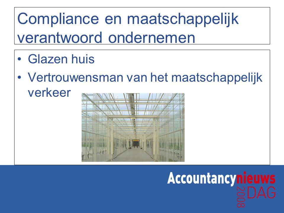 Compliance en maatschappelijk verantwoord ondernemen