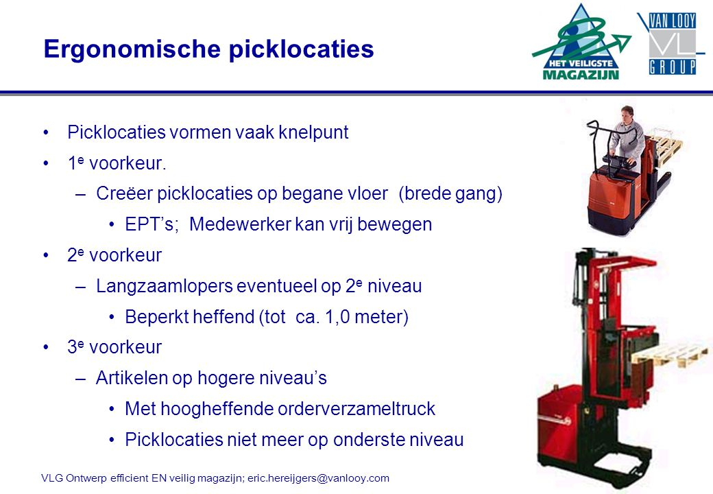 Ergonomische picklocaties