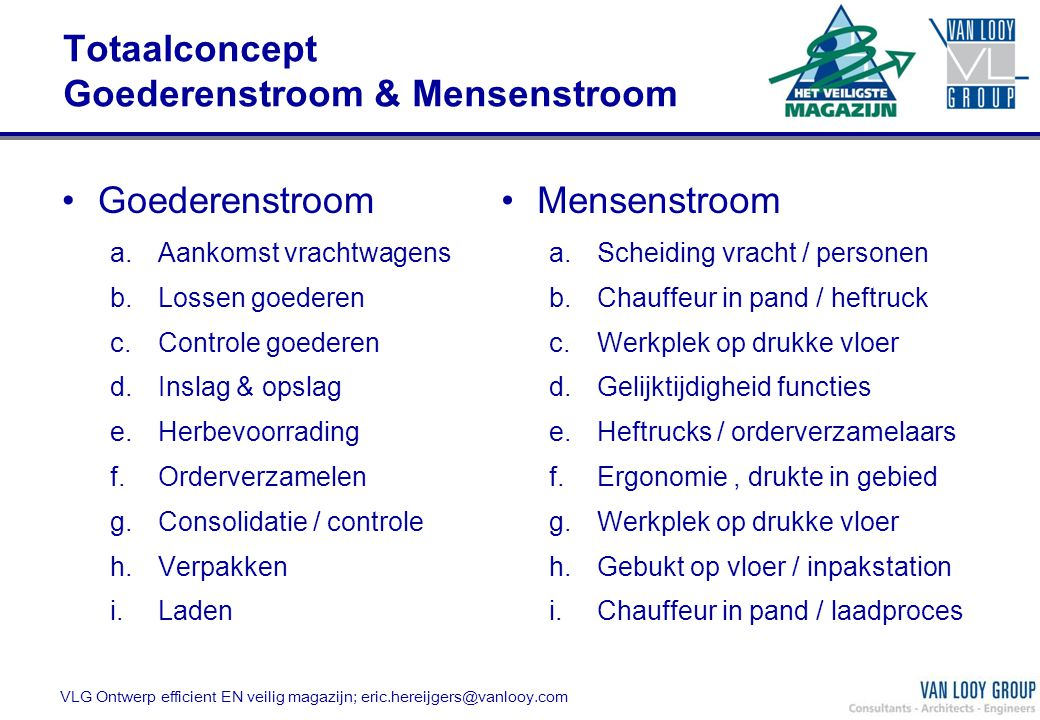 Totaalconcept Goederenstroom & Mensenstroom