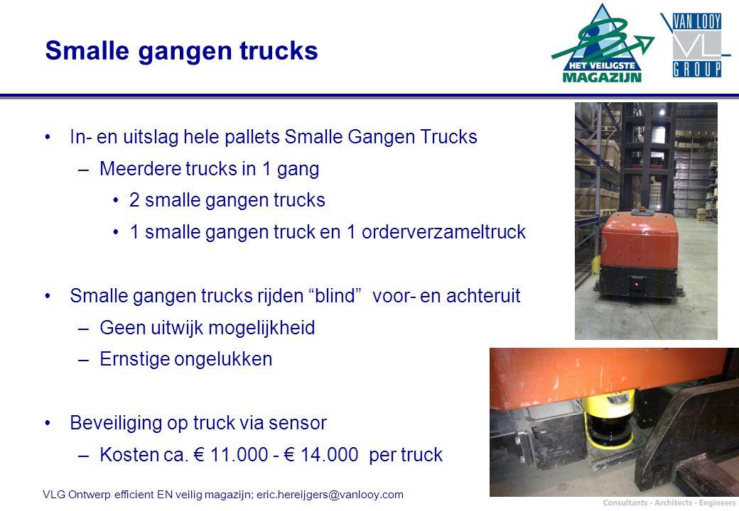 Smalle gangen trucks In- en uitslag hele pallets Smalle Gangen Trucks