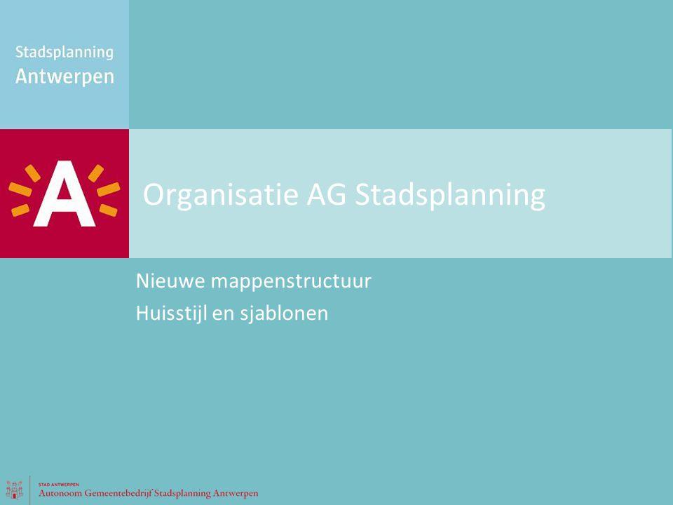 Organisatie AG Stadsplanning