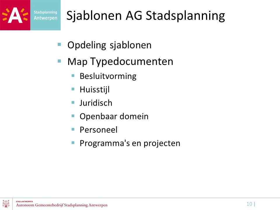 Sjablonen AG Stadsplanning