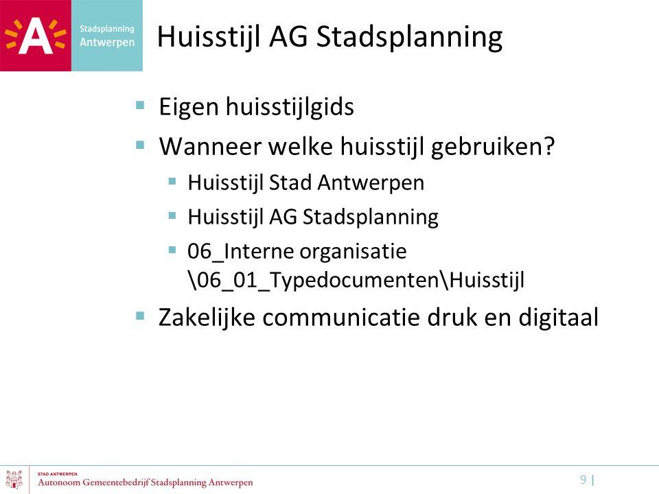 Huisstijl AG Stadsplanning