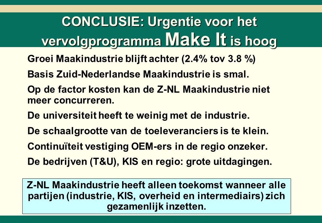 Programma Make It Actielijnen