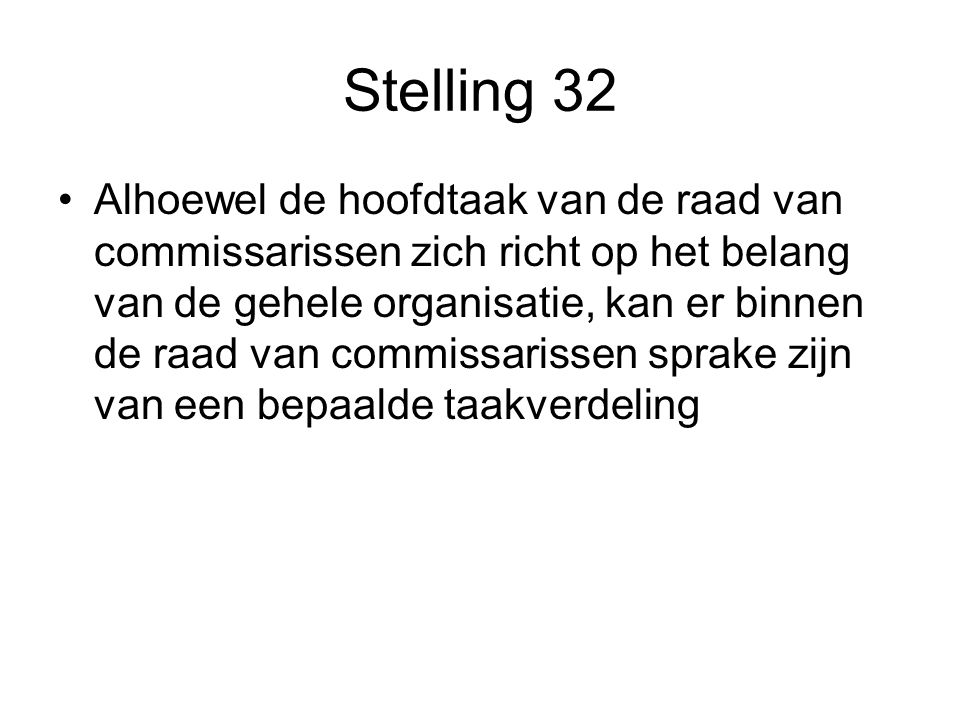 Stelling 32