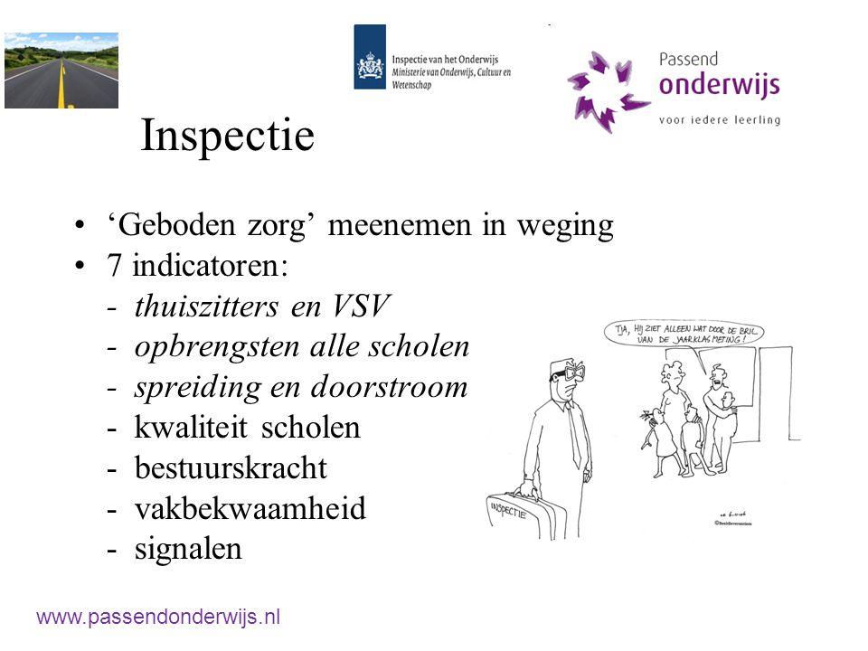 Inspectie 'Geboden zorg' meenemen in weging 7 indicatoren:
