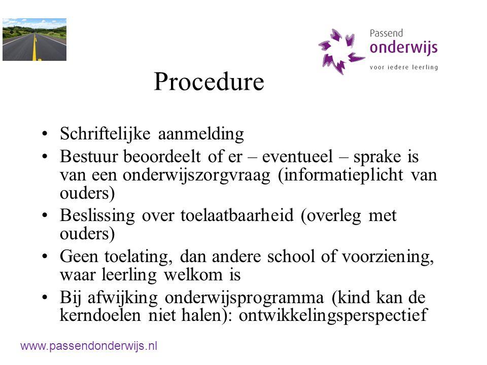 Procedure Schriftelijke aanmelding