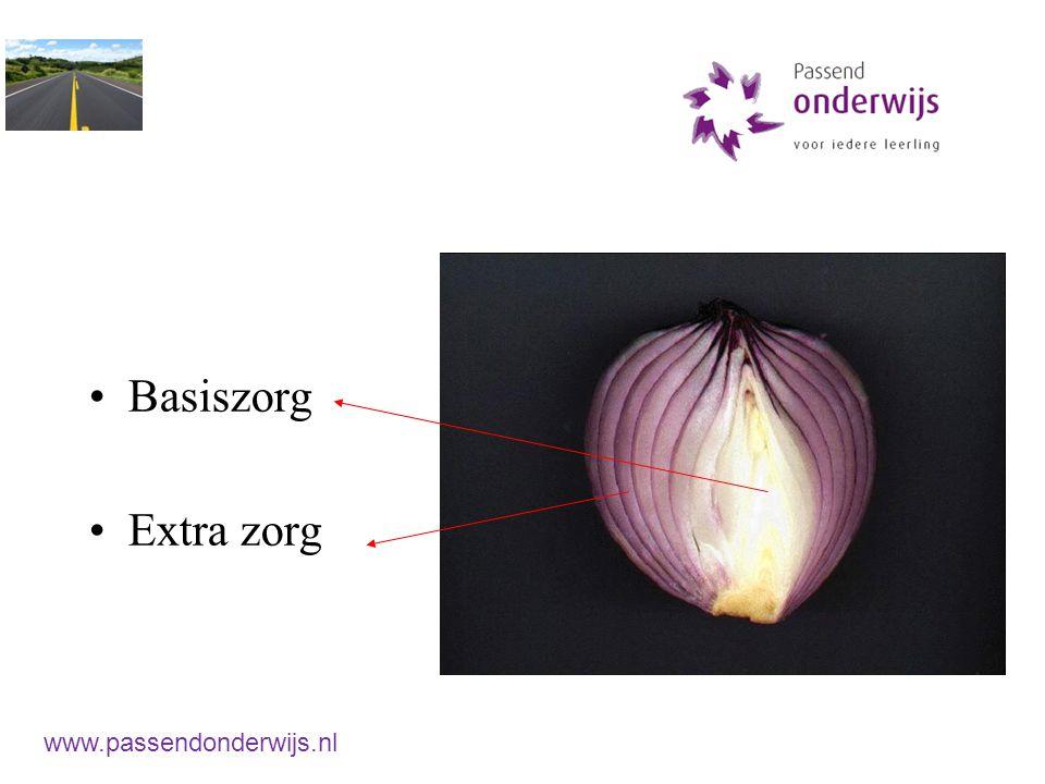 Basiszorg Extra zorg www.passendonderwijs.nl