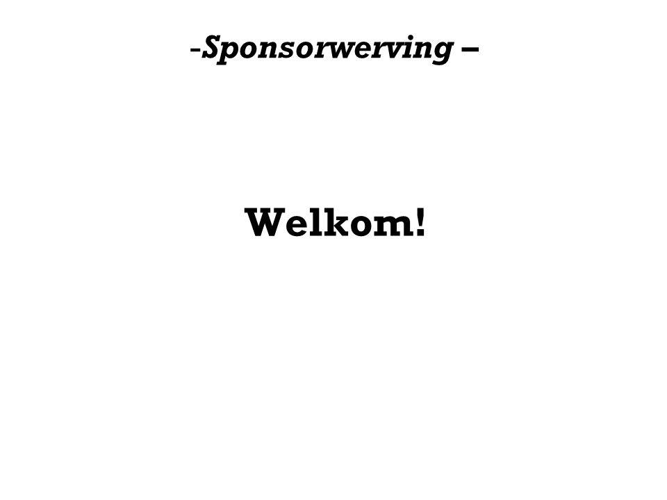 Sponsorwerving – Welkom!