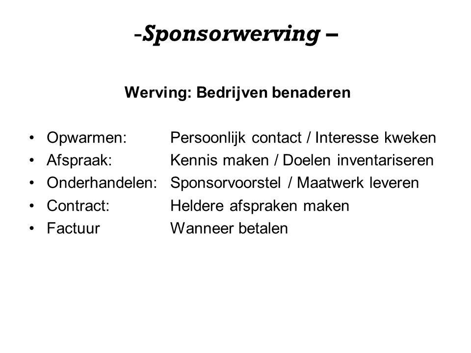 Werving: Bedrijven benaderen