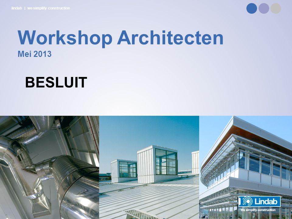 Workshop Architecten Mei 2013
