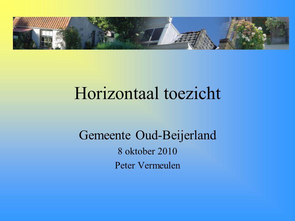 Gemeente Oud-Beijerland 8 oktober 2010 Peter Vermeulen