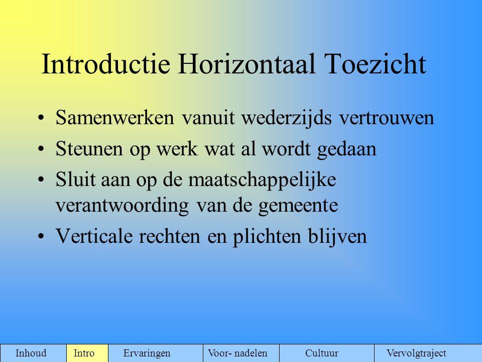 Introductie Horizontaal Toezicht