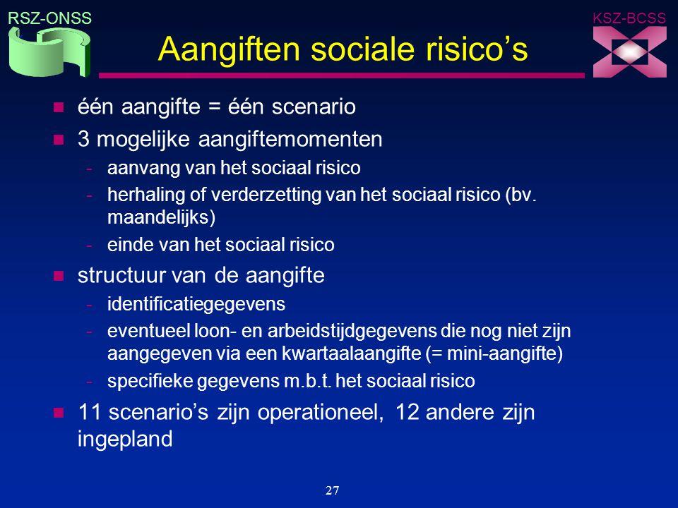 Aangiften sociale risico's
