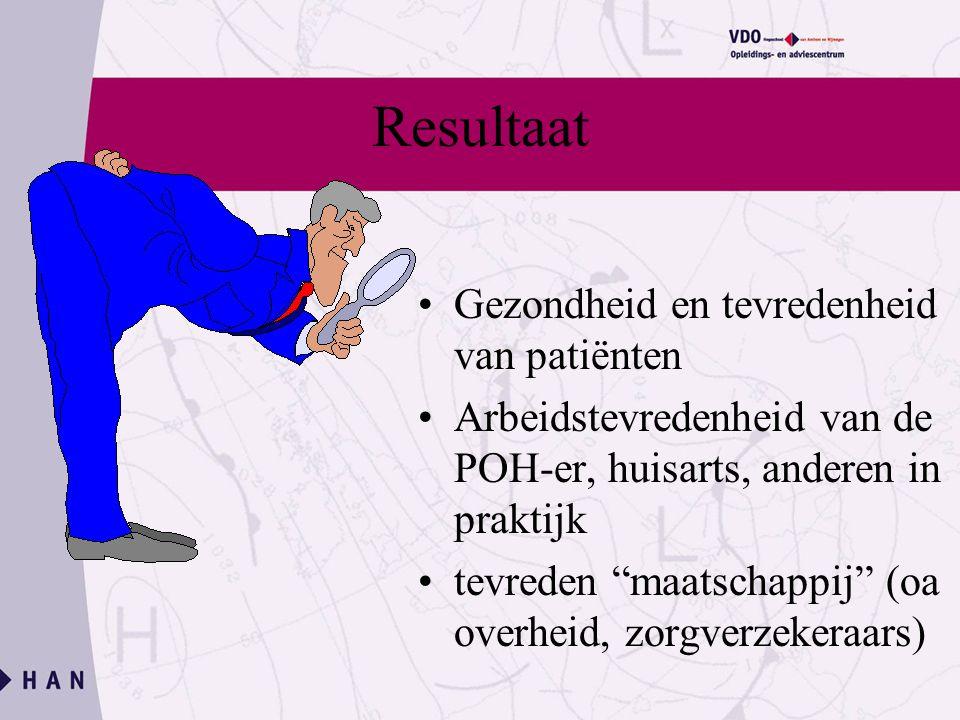 Resultaat Gezondheid en tevredenheid van patiënten