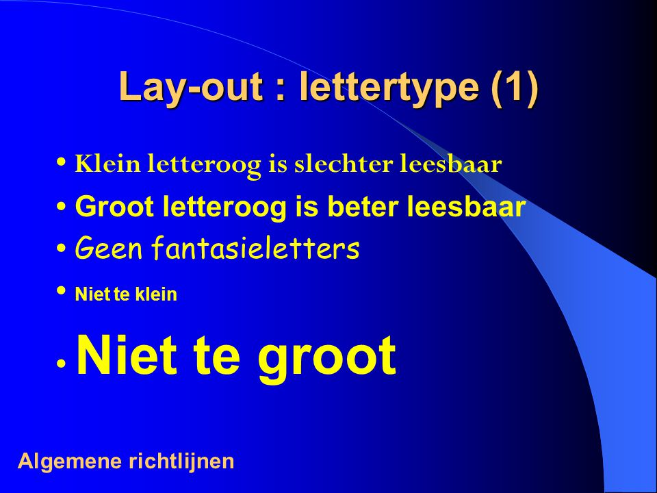 Lay-out : lettertype (1)