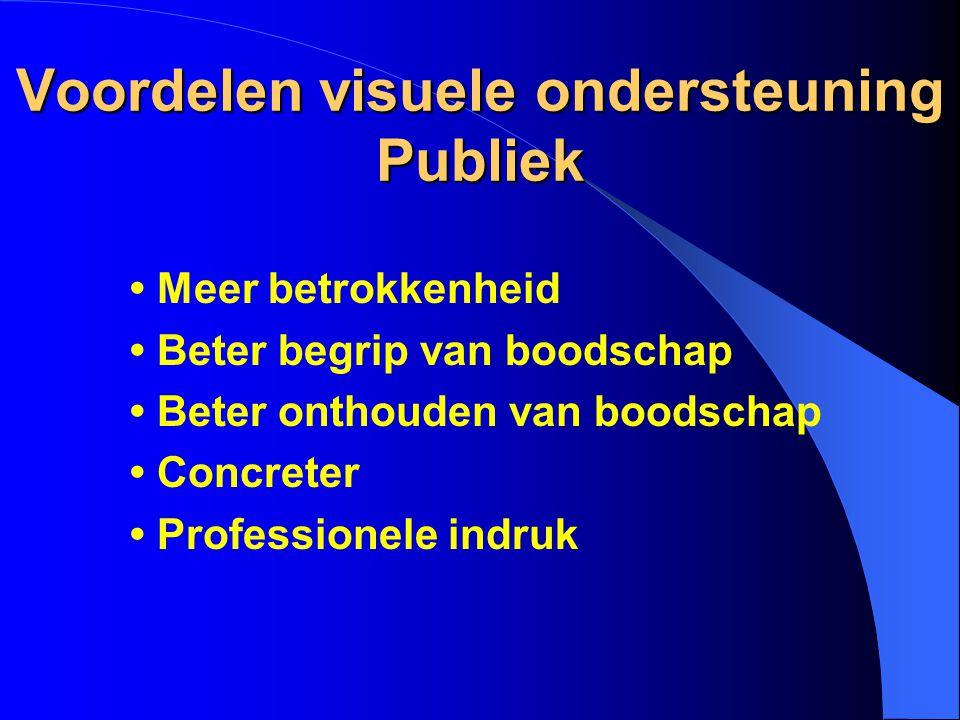 Voordelen visuele ondersteuning Publiek