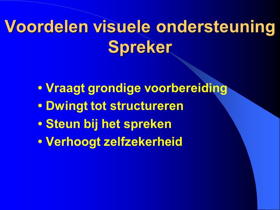 Voordelen visuele ondersteuning Spreker
