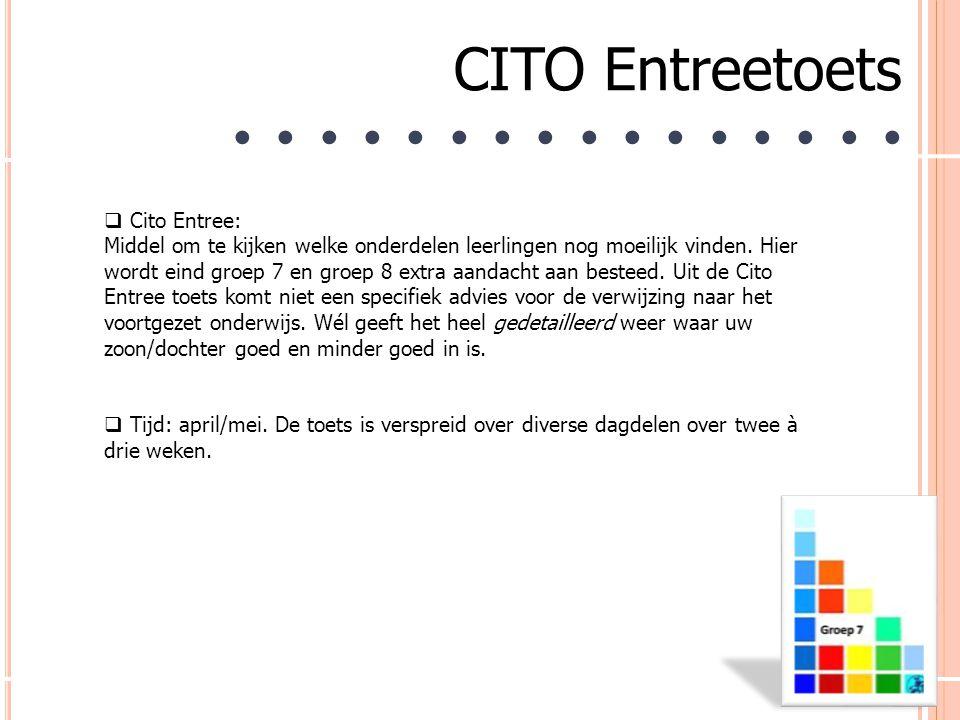 CITO Entreetoets ● ● ● ● ● ● ● ● ● ● ● ● ● ● ● ●