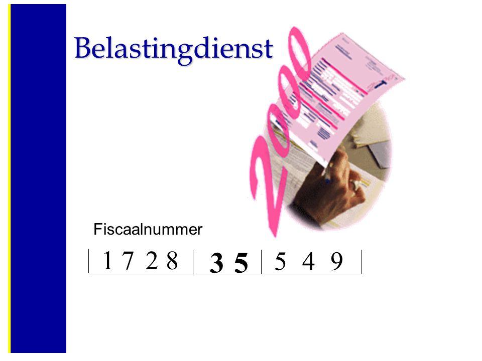 Belastingdienst Fiscaalnummer 1 7 2 8 3 5 4 9