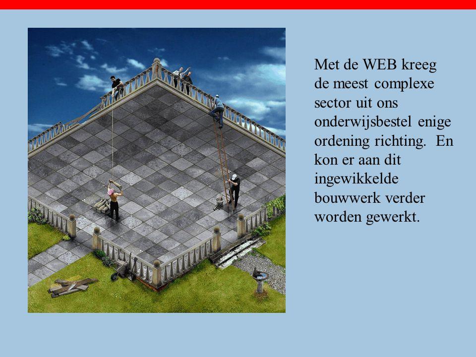 Met de WEB kreeg de meest complexe sector uit ons onderwijsbestel enige ordening richting.