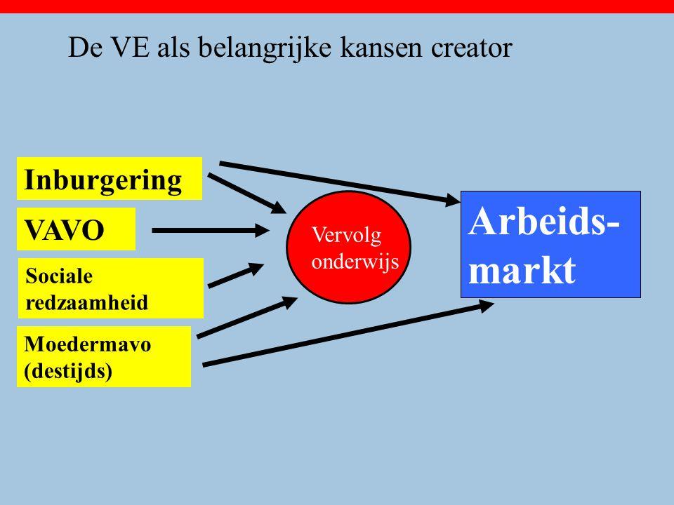 Arbeids-markt De VE als belangrijke kansen creator Inburgering VAVO