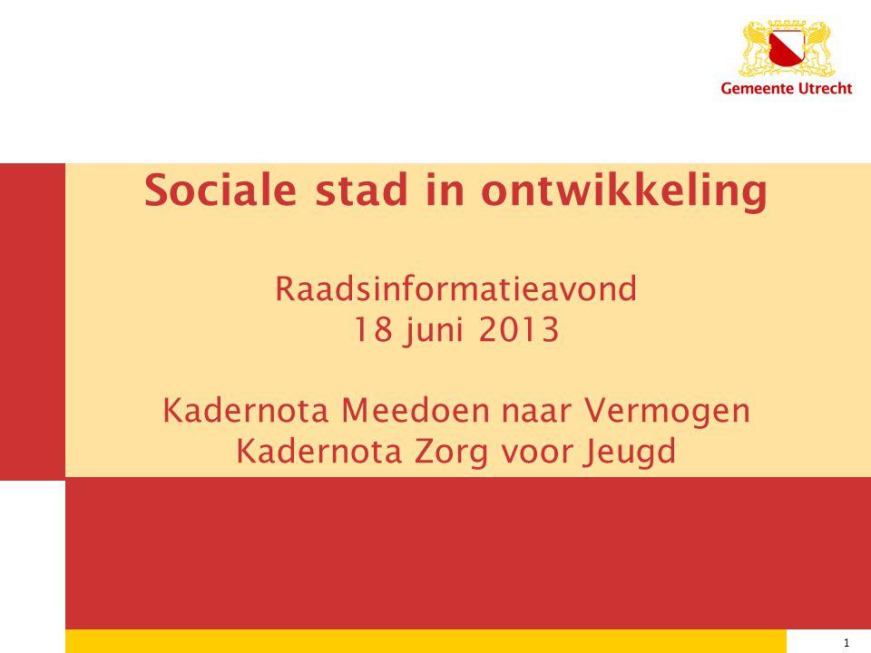 Sociale stad in ontwikkeling